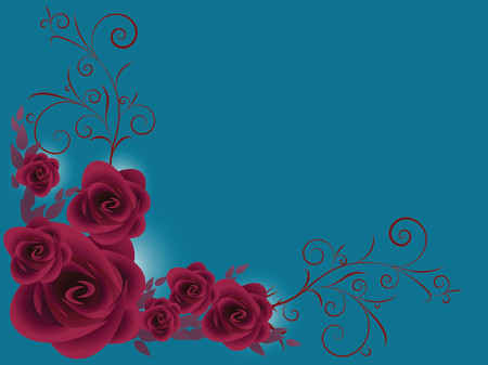 mother'sday: bunch of purple roses over dark blue background