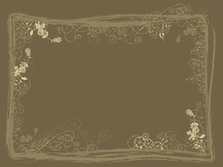 textured: Detailed grunge floral and textured background