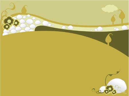 Illustration of natural elements in Landscape scenic Vector