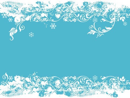 floral elements and christmas ornaments Illustration
