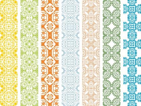 textiles: seamless floral borders Illustration