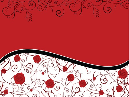 valentine card with red roses Illustration