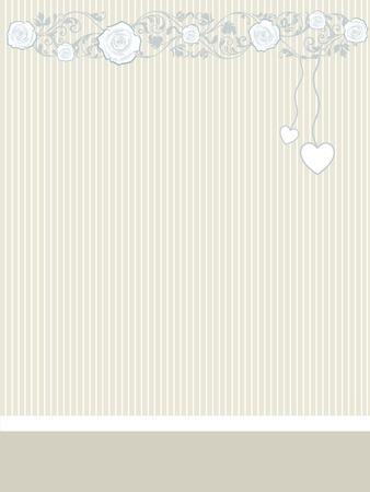 hintergr�nde: Valentine Karte mit Herzen und Rosen