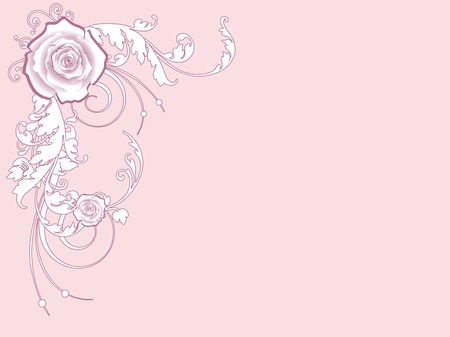 valentine card with florals Illustration