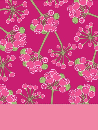 vintage greeting card with floral patterns