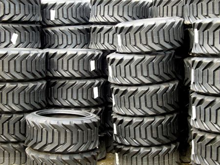 traction: Tire Stacks Stock Photo