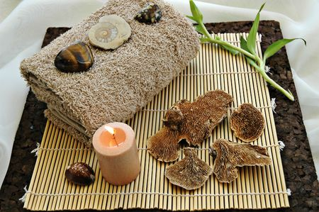 Oriental Display in a spa Stock Photo - 672813