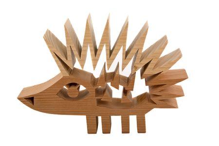 Wood porcupine photo