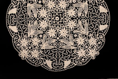 doily: Handmade antique lace Stock Photo