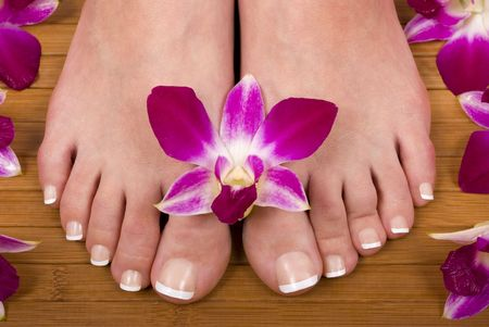 Spa treatment with fresh beautiful orchids Stock Photo - 819332