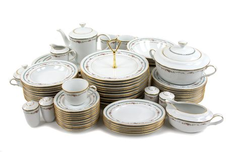 Expensive porcelain plate set Stock Photo - 830937