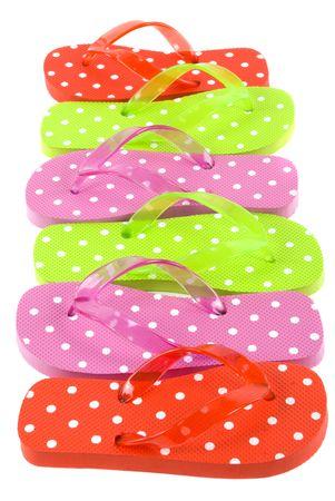 flipflops: Colorful summer beachwear (flipflops) Stock Photo