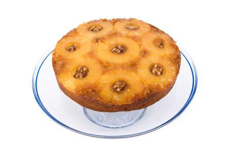 pi�as: Golden deliciosa pi�a al rev�s pastel con nueces