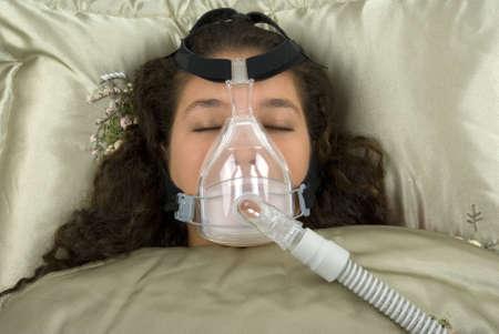 Using CPAP machine photo