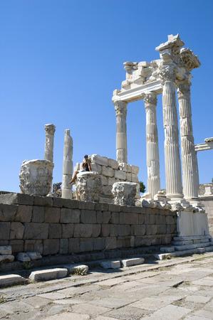 grec antique: Pergamon (Pergamum) grec antique ville situ�e � 16 km de la mer Eg�e, en Turquie