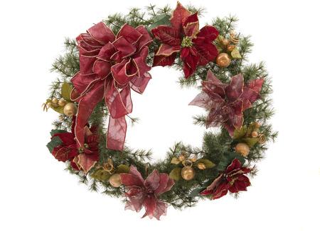 A beautiful Christmas wreath Stock Photo