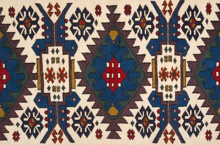 oriental rug: Handmade oriental carpet (made with natural root colors)