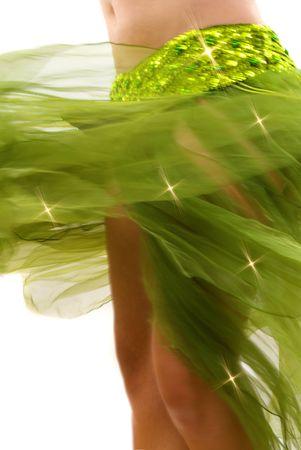 bellydance: Dancer turning very fast (motion blur)