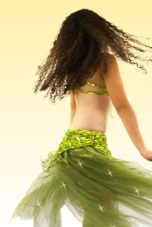 bellydance: Dancer during performance (motion blur) Stock Photo