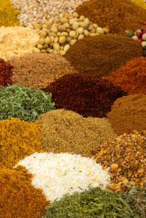 Healthy organic spices and herbs