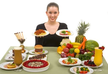 Do the right thing! Choose healthy foods Stock Photo - 2225807