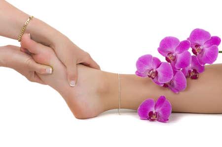 pedicura: La terapia de masaje  Foto de archivo