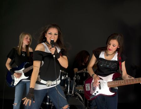 Rock Stars during a concert Stock Photo - 3212678