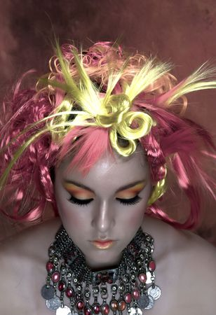 Girl with beautiful make up Stock Photo