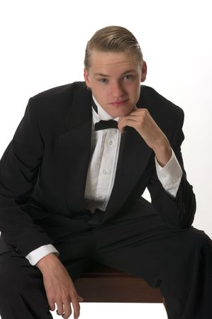 A young man with tuxedo Stock Photo