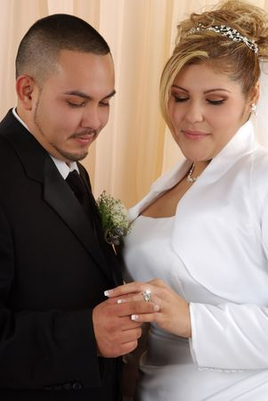 wedding vows: Wedding vows sealed with a ring ( a diamond is forever)