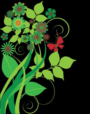 floral: Floral Background Illustration