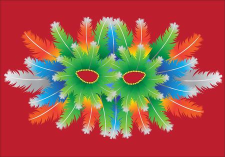 masquerade masks: Carnival Mask Illustration