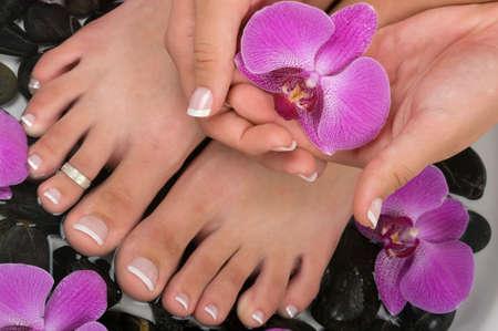 manicure and pedicure: Spa treatment