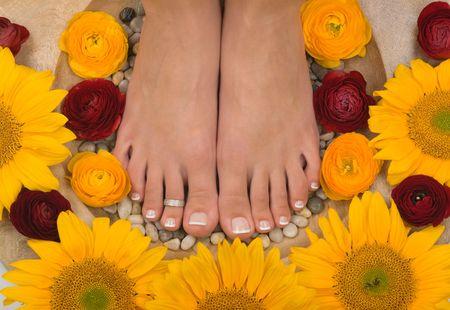 Spa treatment and pedicure