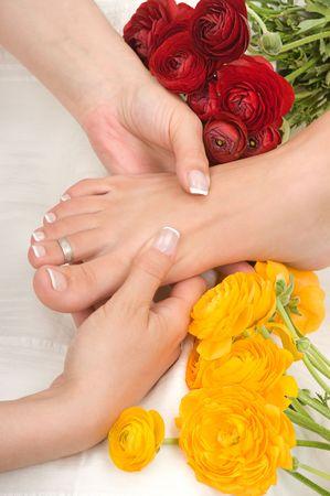Massage in a spa photo