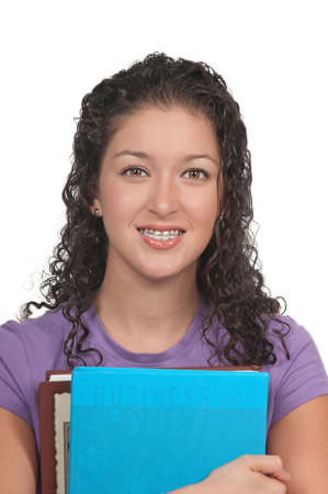 Student with dental braces ( retainer)  photo