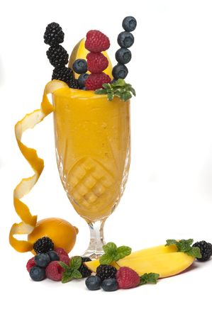 Healthy fruit cocktail photo