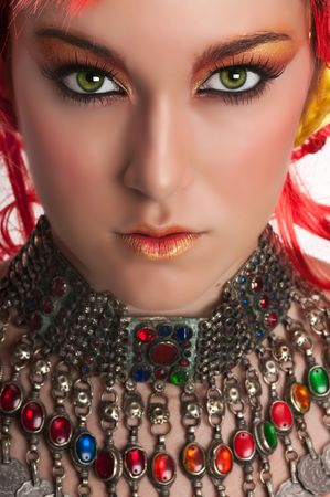 Model with beautiful make up photo