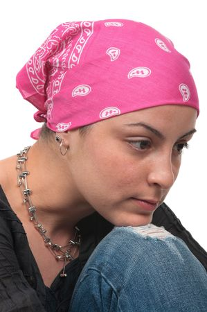 Real breast cancer survivor 2 months after chemotherapy Stock Photo - 6777512