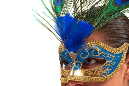 theatre masks: Italian hand painted mask