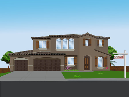 Foreclosed dream home ( dreams shattered) Vector