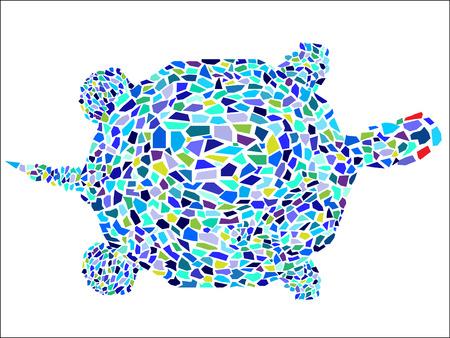 mosaic: Vector mosaic turtle