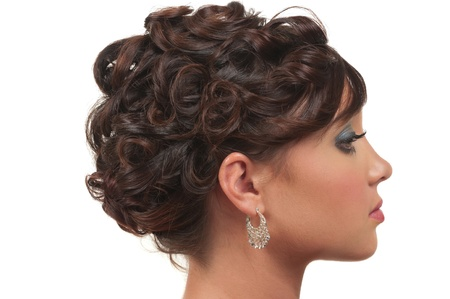 Hair and make up for prom, wedding or party Stock Photo