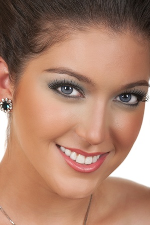 Young woman with beautiful make up photo