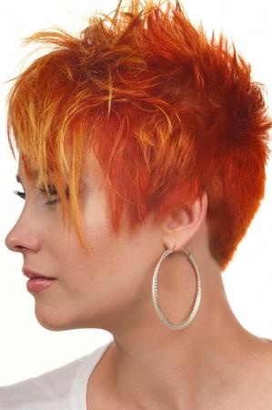 haircut: Young woman with beautiful haircut