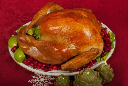 christmas turkey: Christmas turkey dinner Stock Photo