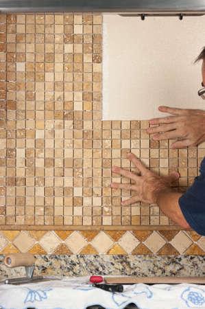 travertine: Tile backsplashing