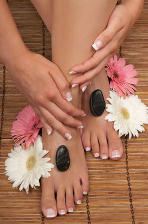 Pedicure and manicure spa photo