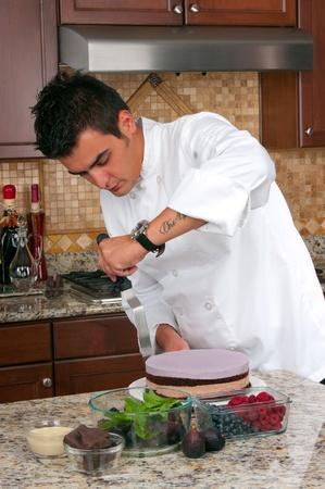 chef making mousse cake Stock Photo - 20056961