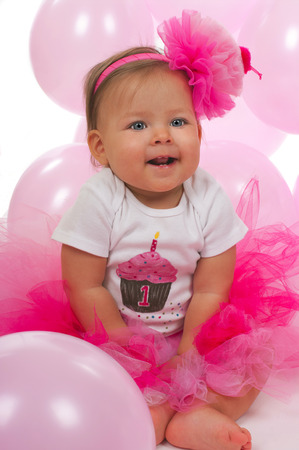 birthday party kids: Cute baby girl